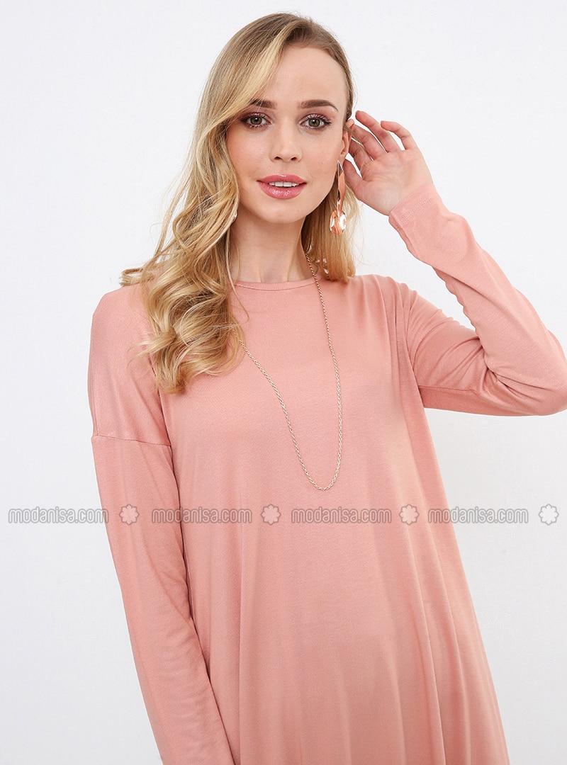 Pink - Crew neck - Tunic