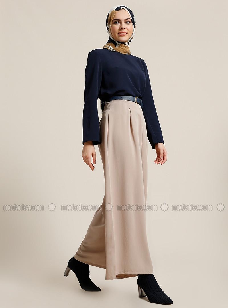 Beige   Culottes by Modanisa