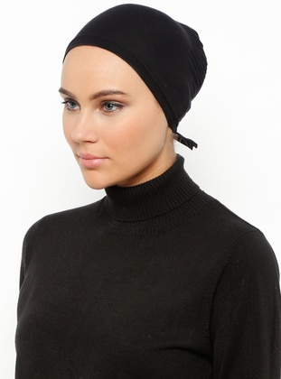 Black - Lace up - Bonnet - Ecardin