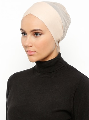 Beige - Lace up - Bonnet