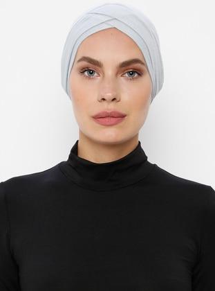Gray - Plain - Bonnet
