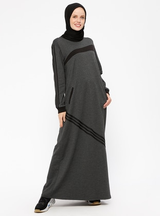 Anthracite – Crew Neck – Unlined – Dresses – Bwest