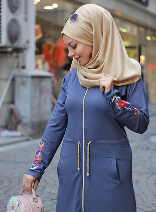 Blue - Viscose - Tracksuit Set