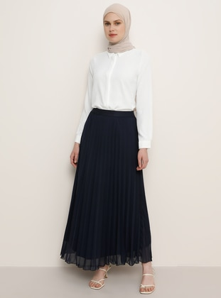 Navy Blue - Fully Lined - Skirt - Benin