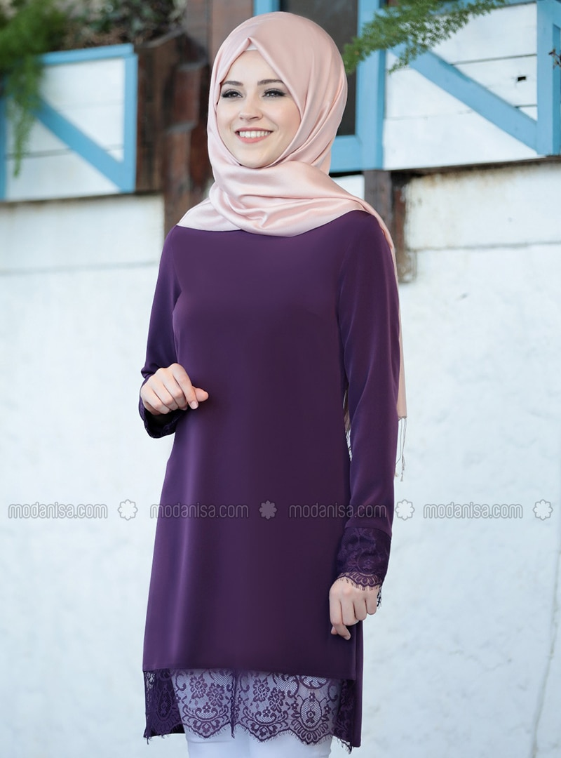 Plum - Crew neck - Tunic