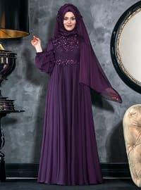 Ahenk Abiye Elbise - Mor - An-Nahar
