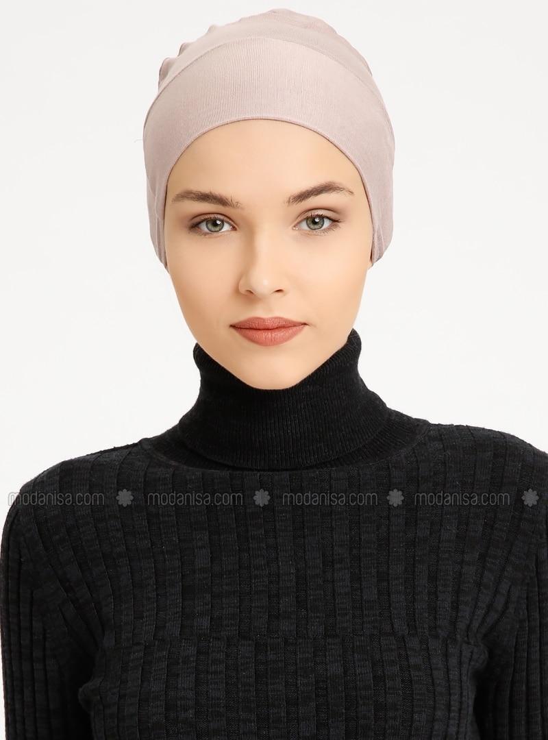 Combed Cotton - Lace up - Non-slip undercap - Powder - Bonnet