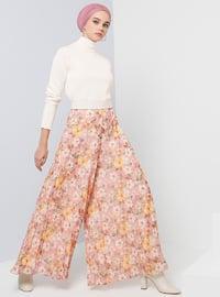 Yellow - Powder - Floral - Pants