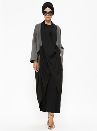 Black - Gray - Unlined - Topcoat