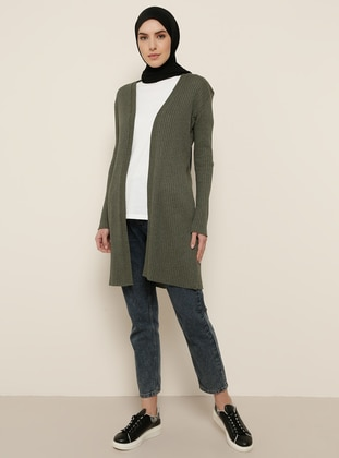 Khaki - Cotton - Cardigan