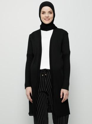 Black - Cotton - Cardigan