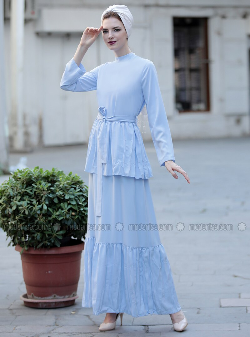 Baby Blue - Polo neck - Dresses