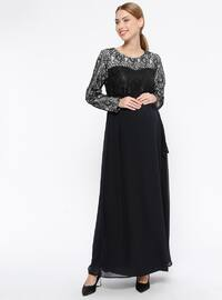 9e2a7a4a7d Black - Fully Lined - Crew neck - Maternity Evening Dress