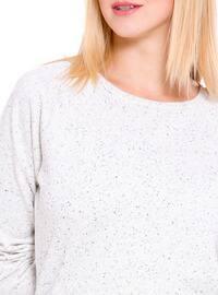 Beige - Sweat-shirt