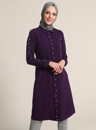 Purple - Round Collar - Tunic