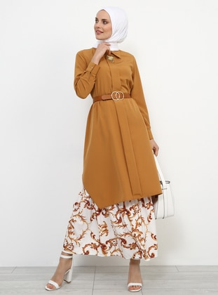 Camel - Point Collar - Tunic - Refka