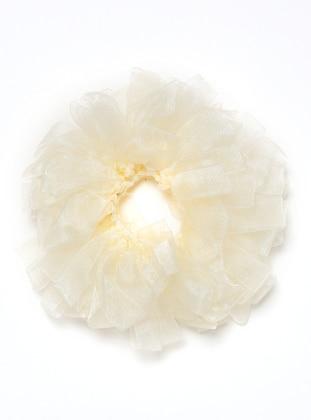 Cream - Cream - Scarf Accessory