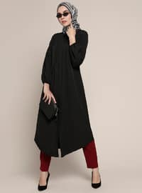 Black - Point Collar - Tunic