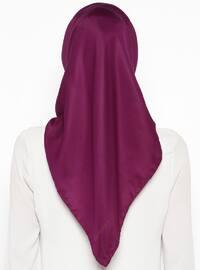 Purple - Plain - Twill - Scarf