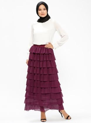 Purple - Stripe - Fully Lined - Skirt