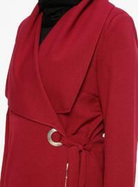 Maroon - Unlined - Shawl Collar - Topcoat