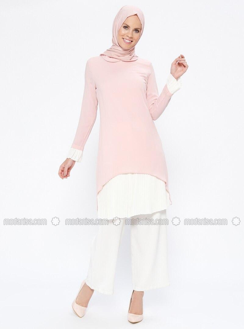 Pink - Round Collar - Tunic