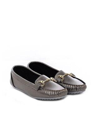Silver Tone - Flat - Flat Shoes