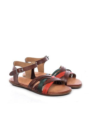 Sandalet - Taba Multi - Just Shoes Ürün Resmi