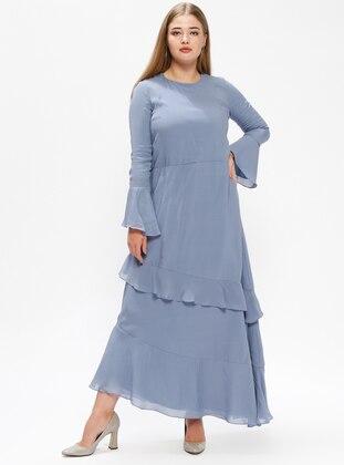 Indigo – Fully Lined – Crew Neck – Plus Size Dress – Melisita