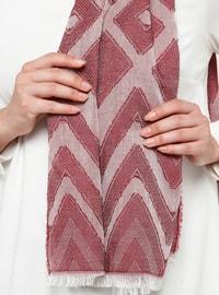 Cherry - Printed - Cotton - Viscose - Shawl