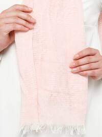 Pink - Plain - Cotton - Viscose - Shawl