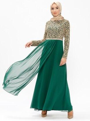 Green Muslim Plus Size Evening Dresses Shop Womens Muslim Plus