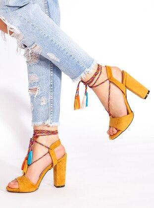 Mustard - High Heel - Heels - Ayakkabı Havuzu
