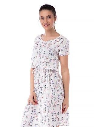 Multi - Floral - Crew neck - Viscose - Multi - Floral - Crew neck - Viscose - Multi - Floral - Crew neck - Viscose - Multi - Floral - Crew neck - Viscose - Loungewear Dresses