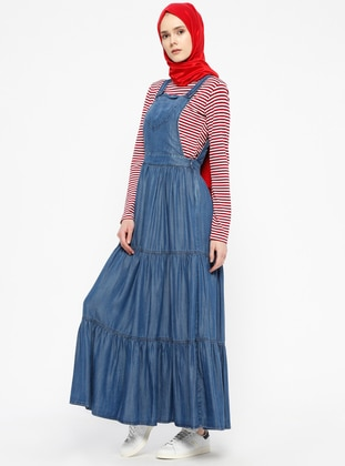 Blue - Unlined - Denim - Dresses