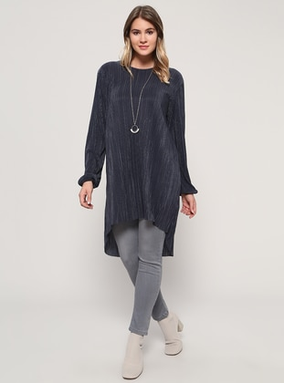 Anthracite – Crew Neck – Plus Size Tunic – Alia
