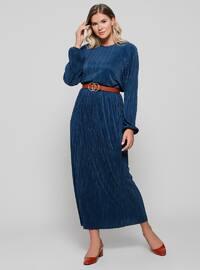 Petrol - Unlined - Plus Size Skirt
