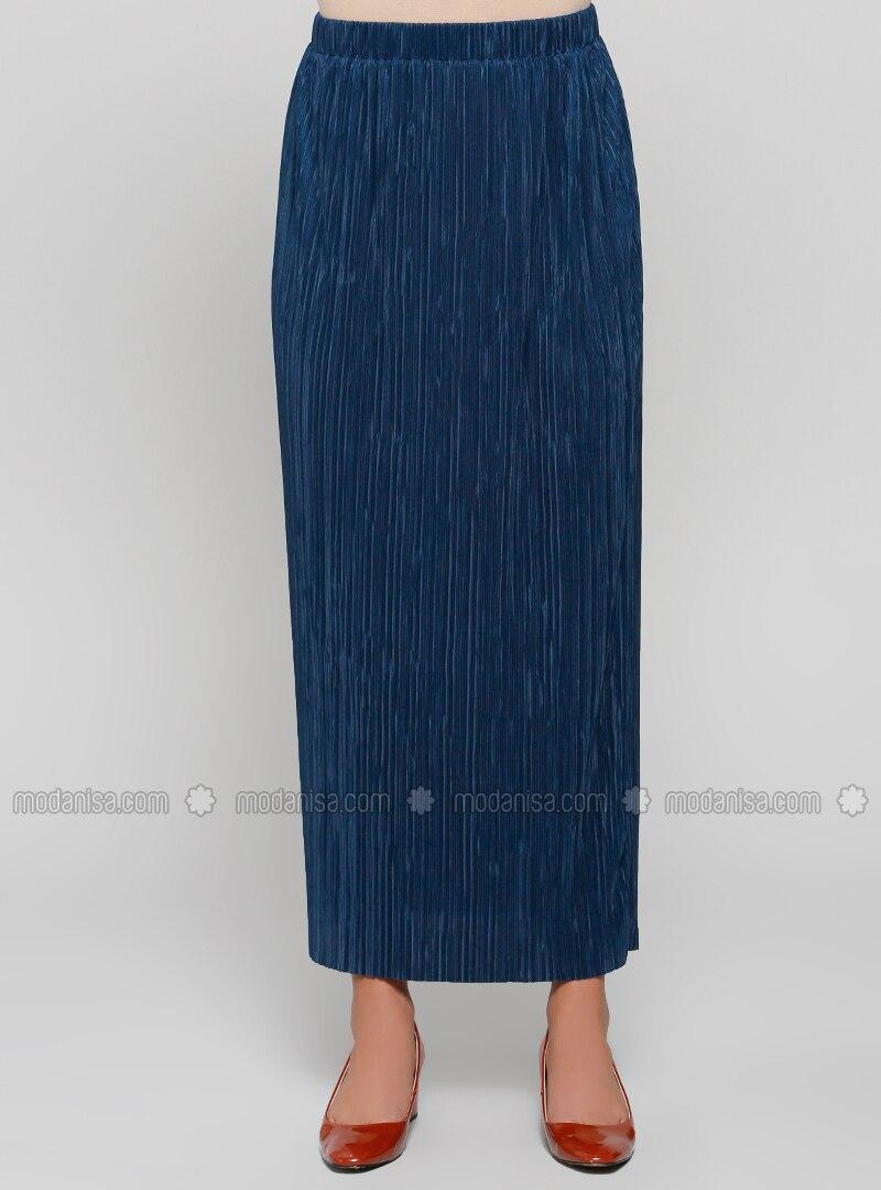 71ba4e19c3 Petrol - Unlined - Plus Size Skirt