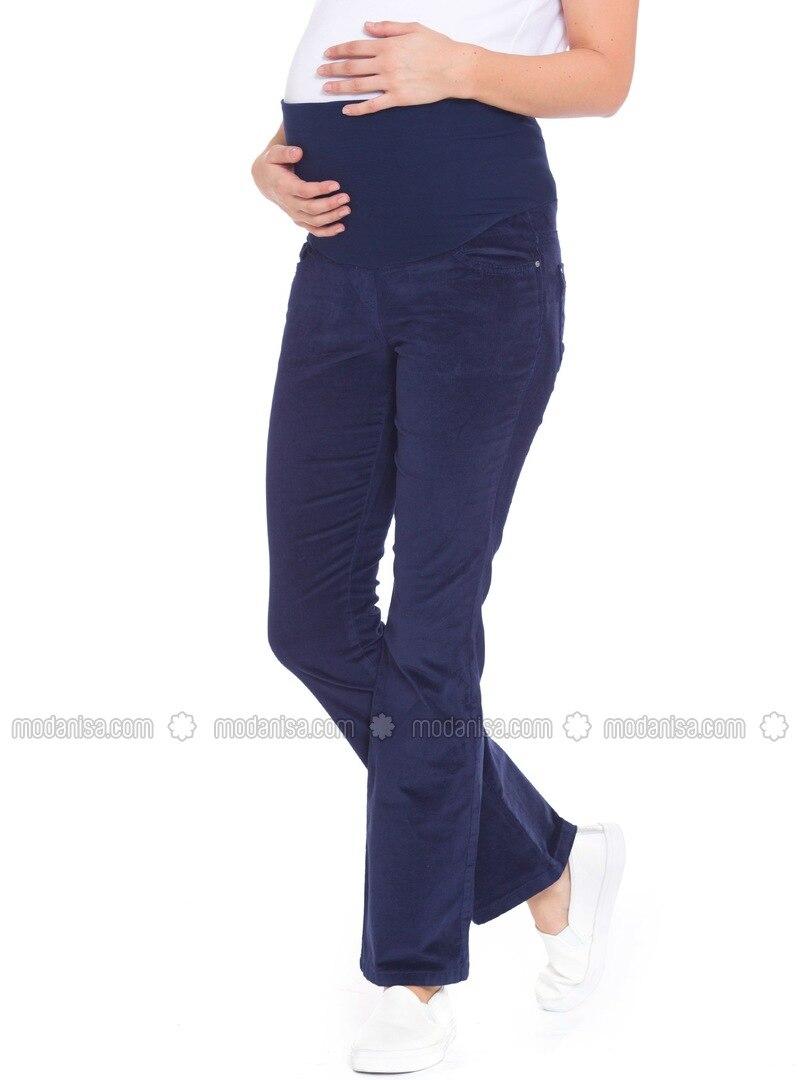 Navy Blue - Maternity Pants