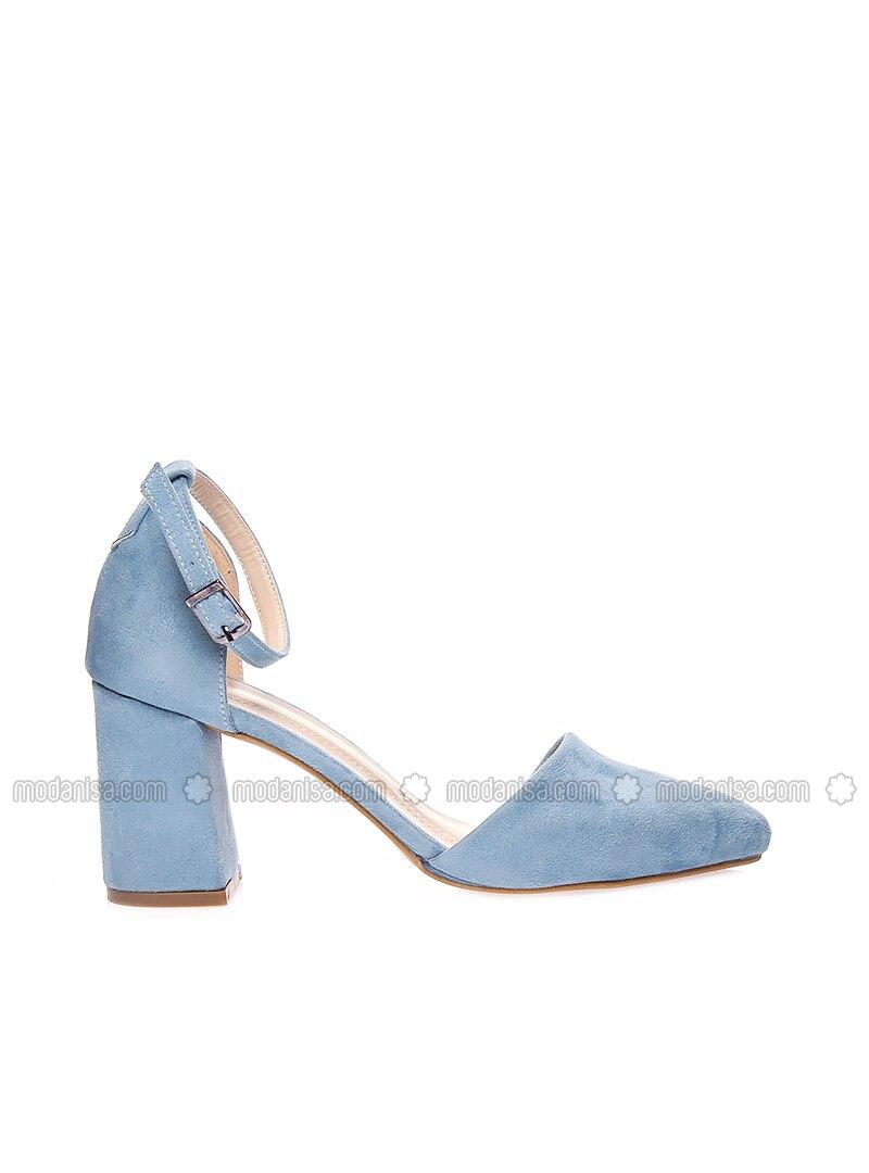 Blau High Heels Stöckelschuh