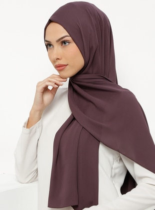 Plum - Plain - Crepe - Shawl