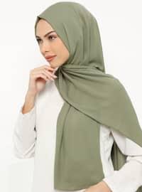 Green - Plain - Crepe - Shawl -  Şal