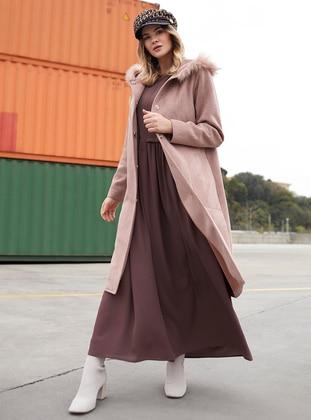 Cep Detaylı Elbise - Kahve - Alia Ürün Resmi