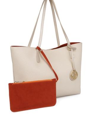 Orange - Cream - Shoulder Bags