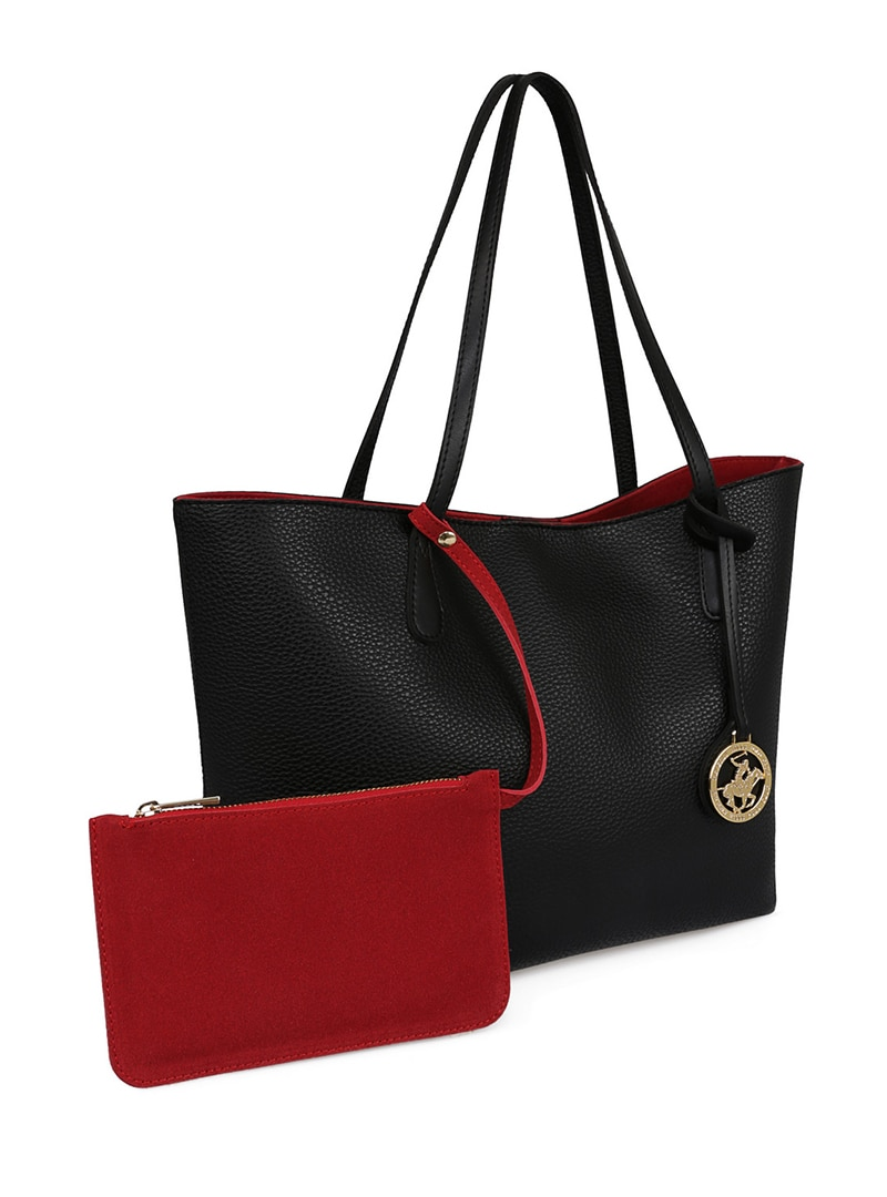Tesettür Omuz Çantası Beverly Hills Polo Club Kırmızı Siyah Kadın Standart