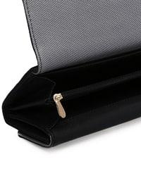Black - Silver tone - Wallet