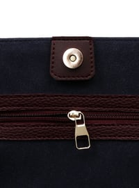 Navy Blue - Maroon - Shoulder Bags
