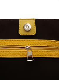 Yellow - Brown - Shoulder Bags