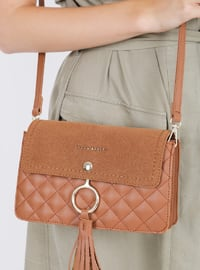 Tan - Shoulder Bags