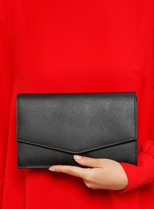 Varolli Portföy&El Çantası - Prada Siyah